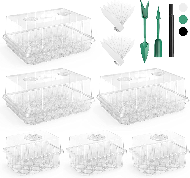 180 Cells Seed Starter Tray 6 kit Ranking Boston Mall TOP4 VpnDiyp See Packs