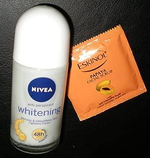 Nivea Whitening Anti-Perspirant Roll On Deodorant 50ml with Ponds Papaya Facial Scrub USA Seller