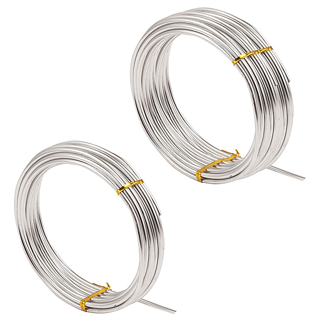 SUBANG 49.2 Feet Silver Aluminum Wire Bendable Metal Wire for DIY Sculpture and Crafts,3mm Thickness
