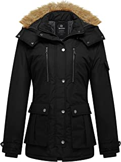 Women's Thickened Parka Coat with Removable Fur Hood