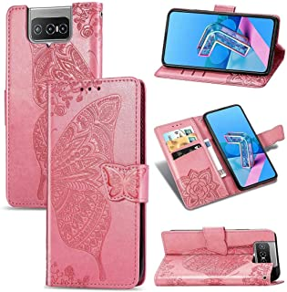 Cellphone case. For Asus Zenfone 7 Pro ZS671KS Butterfly Love Flower Embossed Horizontal Flip Leather Case with Bracket/Ca...