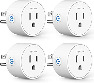 Smart Plug Mini Outlet Compatible with Amazon Alexa and Google Assistant, TECKIN Wifi Enabled Remote Control Smart Socket ...