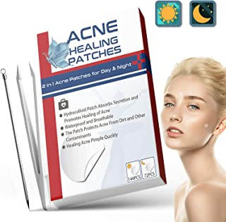 216 stks Acne Patches, Dag & Nacht Gebruik 2 in 1 Acne Absorberende Puistje Patches, Onzichtbare Effectieve Hydrocolloïde ...