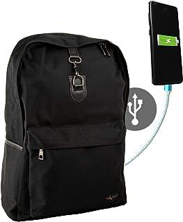 Airel Mochila portátil-Inteligente | Mochila Impermeable para portátil con Puerto USB | Daypack Portátil Mochila para Ordenador Portátil | Mochila con Cargador | Medidas: 44x32x14 cm. 15.6 Pulgadas