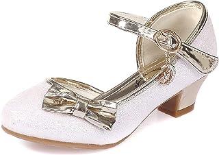Zapatos de Lentejuelas de Niña Zapatosde Tacón Altode Princesa Zapatos de Fiestade Niños