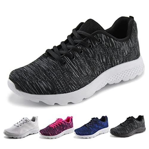 e117e21c5e8d Jabasic Women s Breathable Knit Sports Running Shoes Casual Walking Sneaker