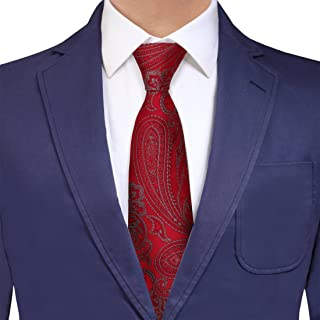 Y&G Men's Fashion Men Silk Patterns Extra Long Neck Tie Christmas Gift for Him