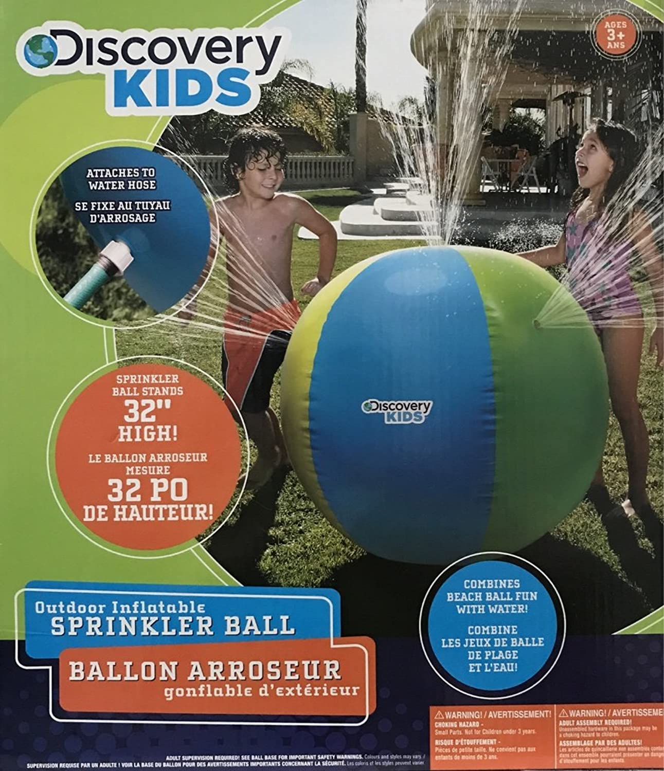 Discovery Kids Inflatable Sprinkler Ball  32 inches by Discovery Toys