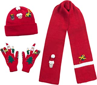 Kidorable Girls' Little Christmas Hat Scarf Set