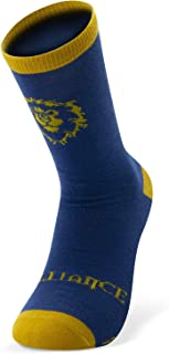 World of Warcraft - Calcetines - Alianza - Azul y amarillo - talla única