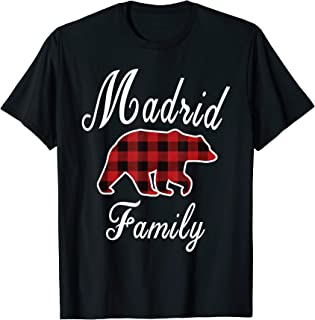 MADRID Family Bear Red Plaid Christmas Pajama Men Women Gift T-Shirt
