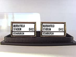 Edinburgh Rugby Stadium Street Sign Cufflinks with Gift Box