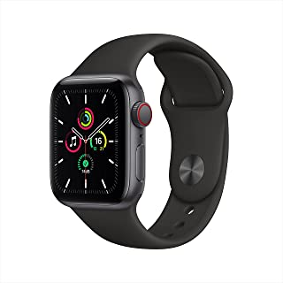 Apple Watch SE (GPS + Cellular, 44mm) - Space Grey Aluminium Case with Black Sport Band
