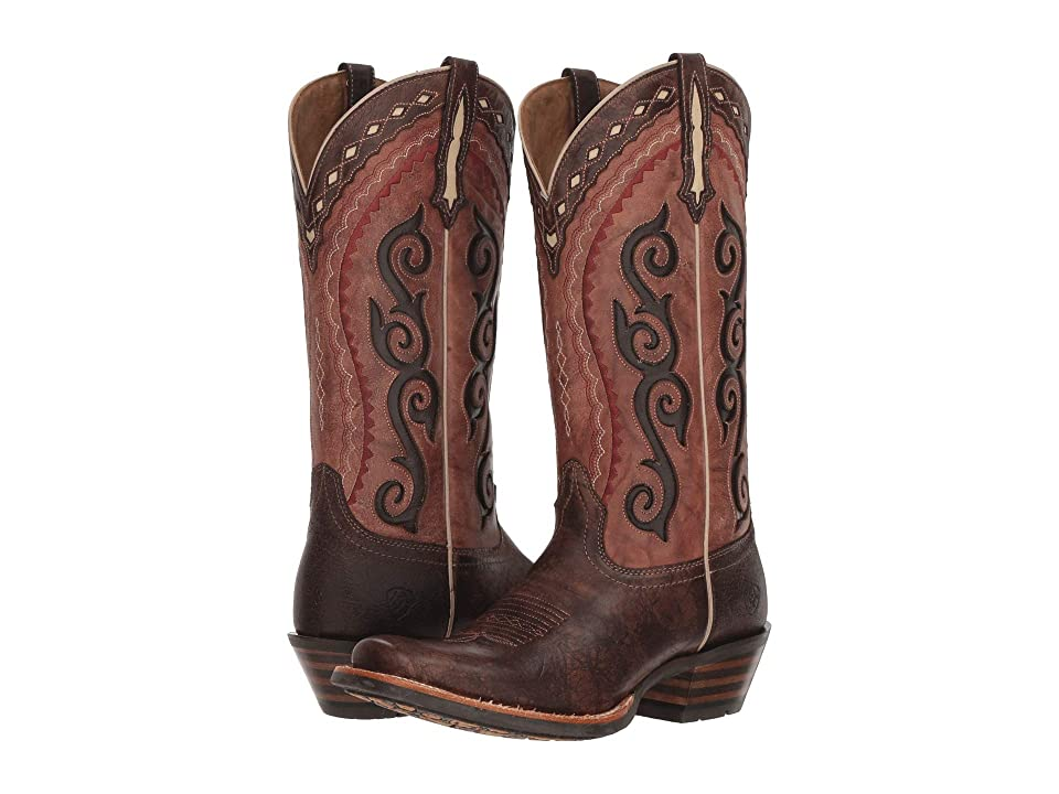 Ariat Cowtown Cutter (Crossfire Cocoa/Posse Pink) Cowboy Boots