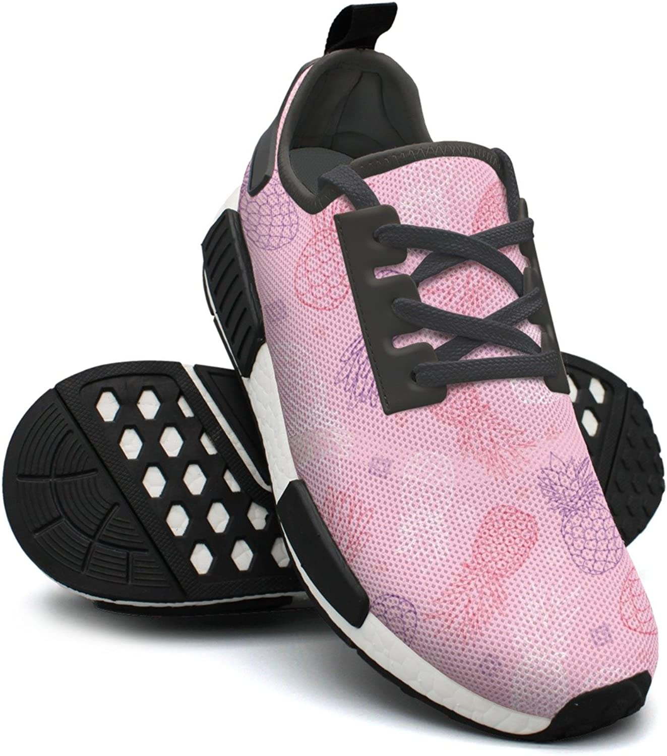 Pink Purple Pineapples Doodle Texture Women's Designer Lightweight Sneakers Gym Outdoor Running shoes