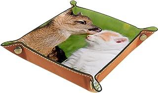 Vockgeng Chat cerf Boîte de Rangement Panier Organisateur de Bureau Plateau décoratif approprié pour Bureau à Domicile tir...