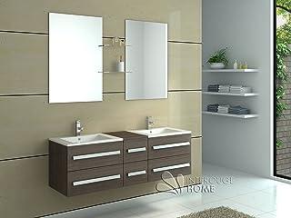 Amazon.fr : ensemble meuble vasque miroir salle bain - Blanc