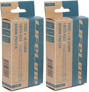 2本セット LifeLine ロードインナーチューブ 700×18-25C 仏式バルブ [並行輸入品]