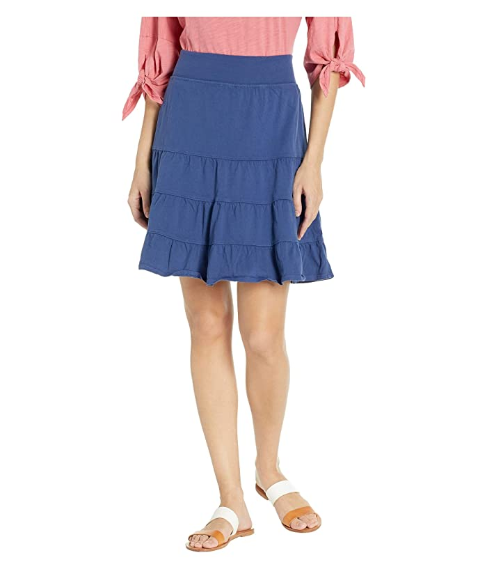 Fresh Produce Jersey Tiered Skirt (Moonlight Blue) Women