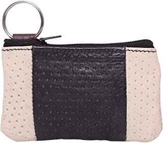 Laveri Small Wallet for Unisex - Leather, Black and White