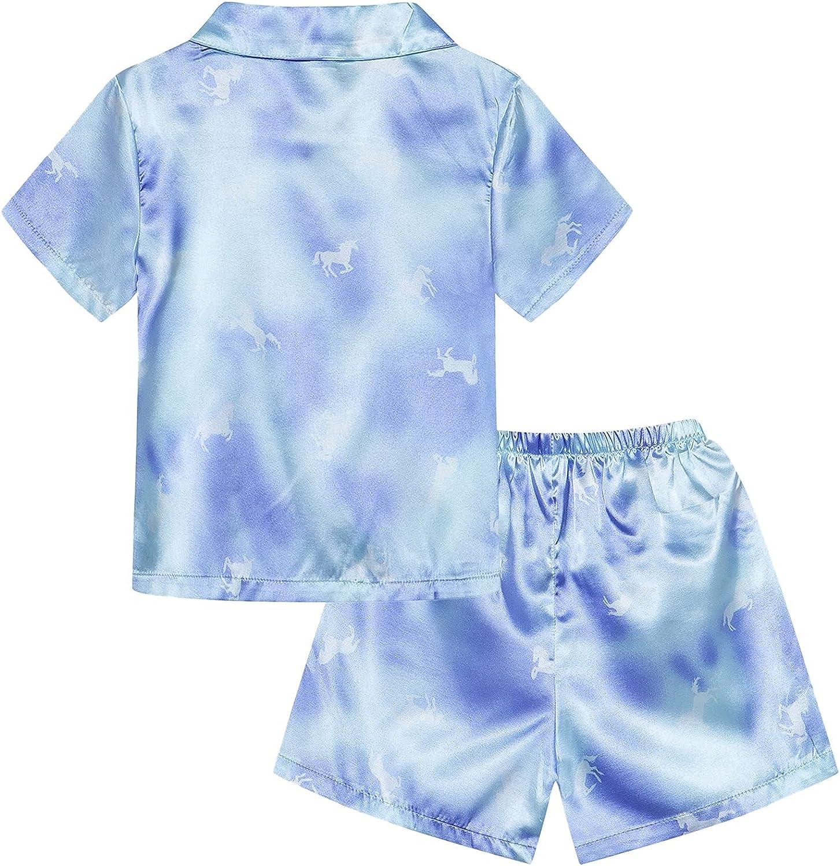 Umeyda Kids Boys Girls Satin Pajamas Set, 12 Months - 14 Years.