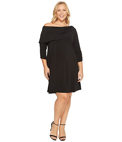 Karen Kane Plus Plus Size Drape Boat Neck Dress At 6pm