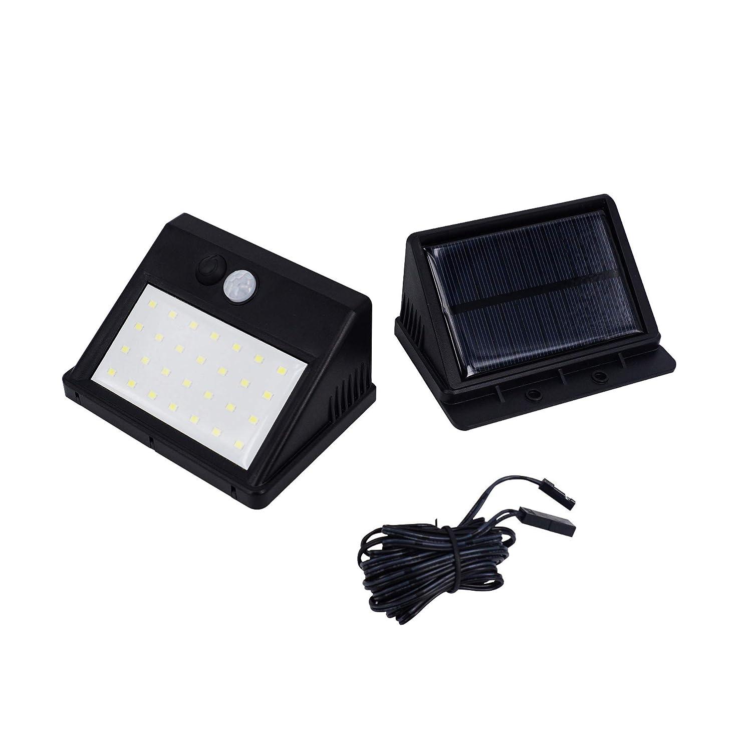 私の社説記者WithProject LEDソーラーセンサーライト ワイヤレス人感明暗センサー ソーラーパネル分離式室内外使用 3パターン切替モード 防犯灯 外灯