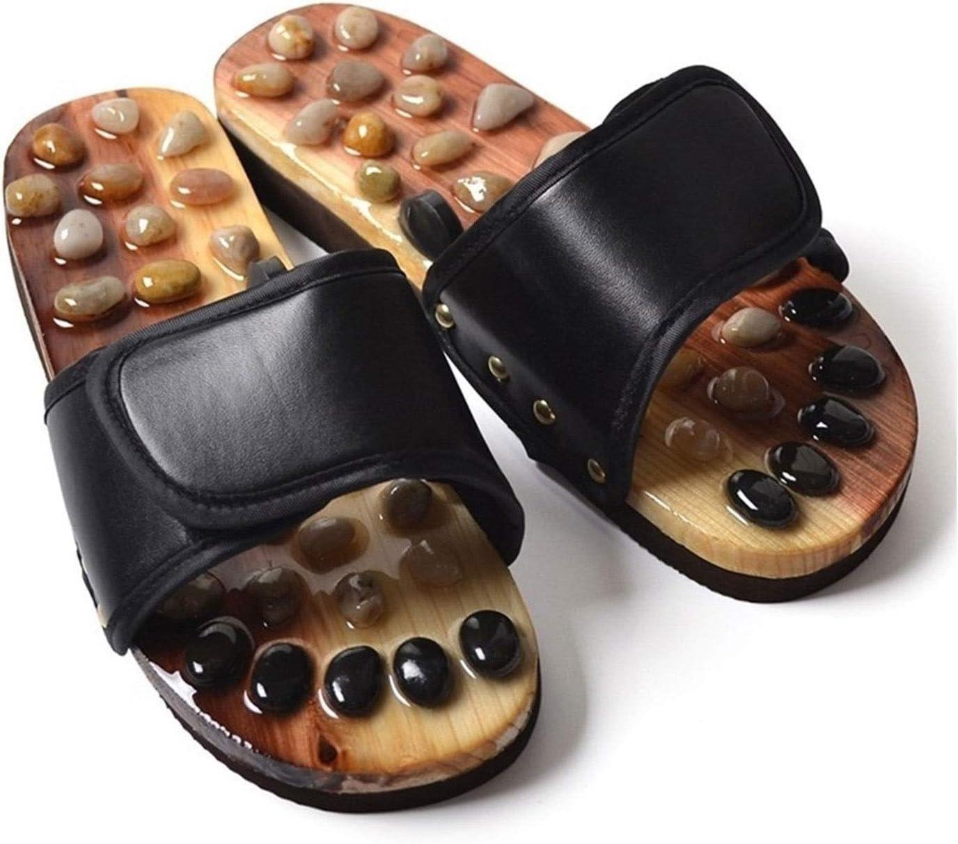 Shiatsu Max 88% 35% OFF OFF Massage Slippers Wooden Meta Cobblestone Shoes Improve