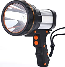 ALFLASH Led-zaklamp, lantaarn, 7000 lumen, 6600 mAh, USB-oplaadbaar, CREE led, handlamp, outdoor, waterbestendig, super he...