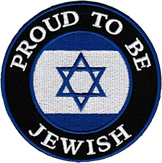 Proud To Be Jewish Embroidered Patch Israel Flag Iron-On Star of David Biker Emblem