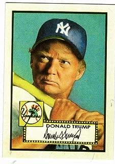 Donald Trump Mickey Mantle 1952 Topps Style Baseball Card
