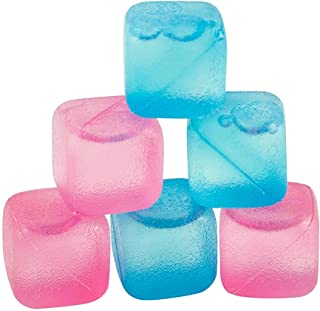 Chill Ice: Plastic Ice Cubes 12 ct. (6 Blue + 6 Pink)