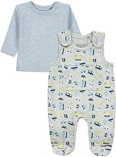 Kanz Baby Jungen Jersey Strampler mit Shirt Autos