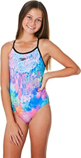 Speedo Girls Youth Girls Strap Back One Piece Lace Polyester