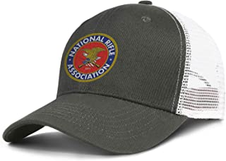 DXQIANG National Rifle Association Unisex Vintage Mesh Snapback Cap Relaxed Fit Adjustable Dad Caps