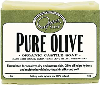 Pure Olive Soap | Organic Extra Virgin Olive Oil | Castile Soap for super Sensitive & Mature Skin| Hypoallergenic, Moistur...