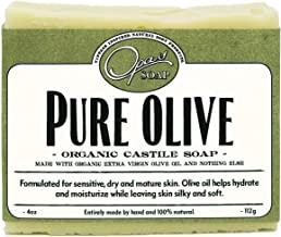 product image for Pure Olive Soap | Organic Extra Virgin Olive Oil | Castile Soap for super Sensitive & Mature Skin| Hypoallergenic, Moisturizes, Anti-aging,