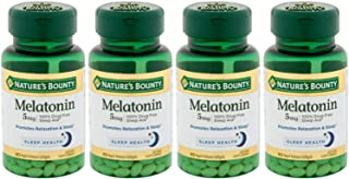 Nature's Bounty Melatonin 5mg, 360 Softgels (4 X 90 Count Bottles)