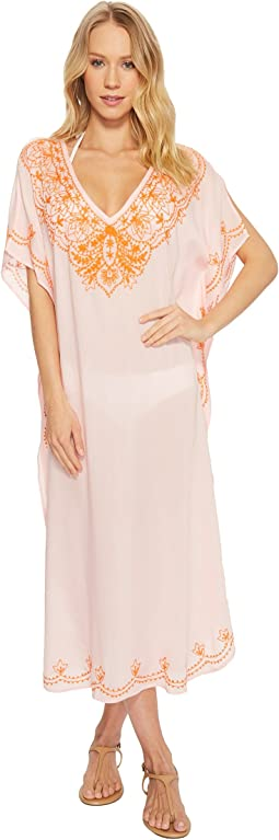 Echo Design Embroidered Maxi Caftan