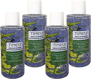 Timely - Desmaquillador con micelas de vitaminas para el cuidado diario (pack de 4 x 150 ml)