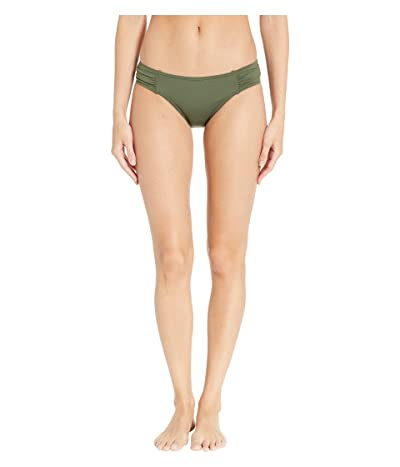 Tommy Bahama Pearl Side-Shirred Hipster Bikini Bottom (Dark Teal Leaf) Women