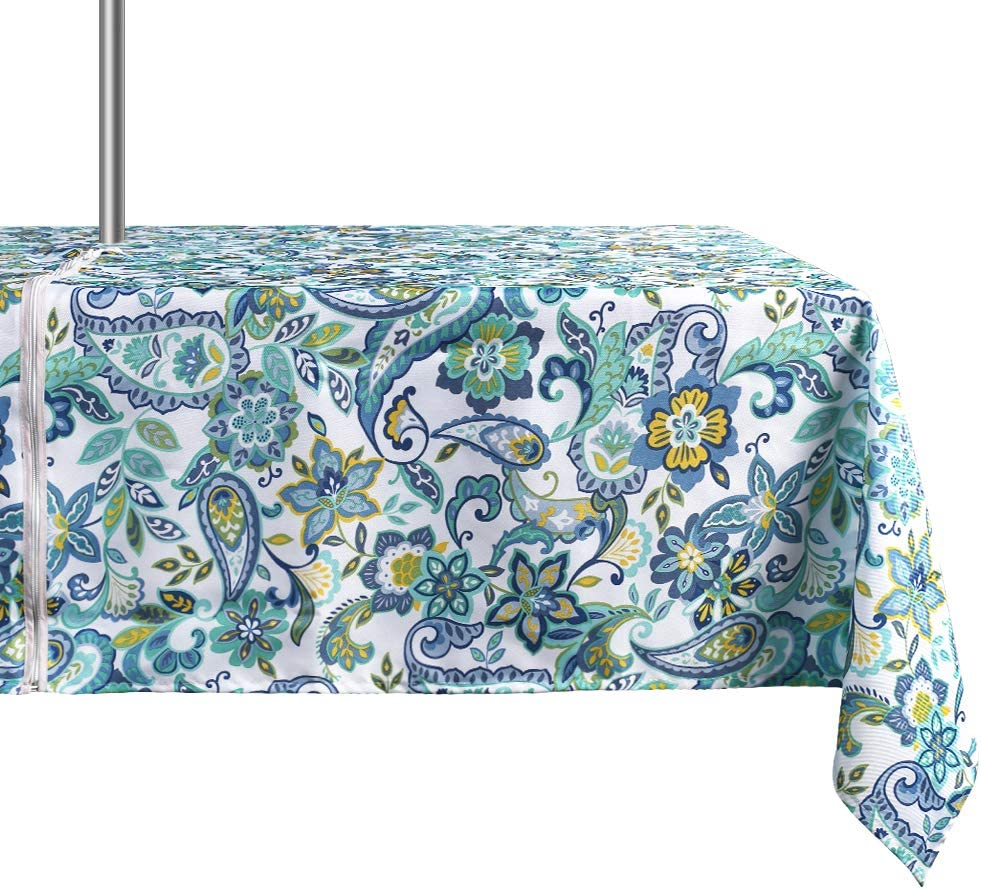 ColorBird Modern Paisley Max Discount is also underway 51% OFF Flower Outdoor Water Resista Tablecloth