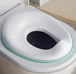 Potty Training Seat for Boys and Girls, Fits Round & Oval Toilets, Non-Slip with Splash Guard, Includes Free Storage Hook - Jool Baby