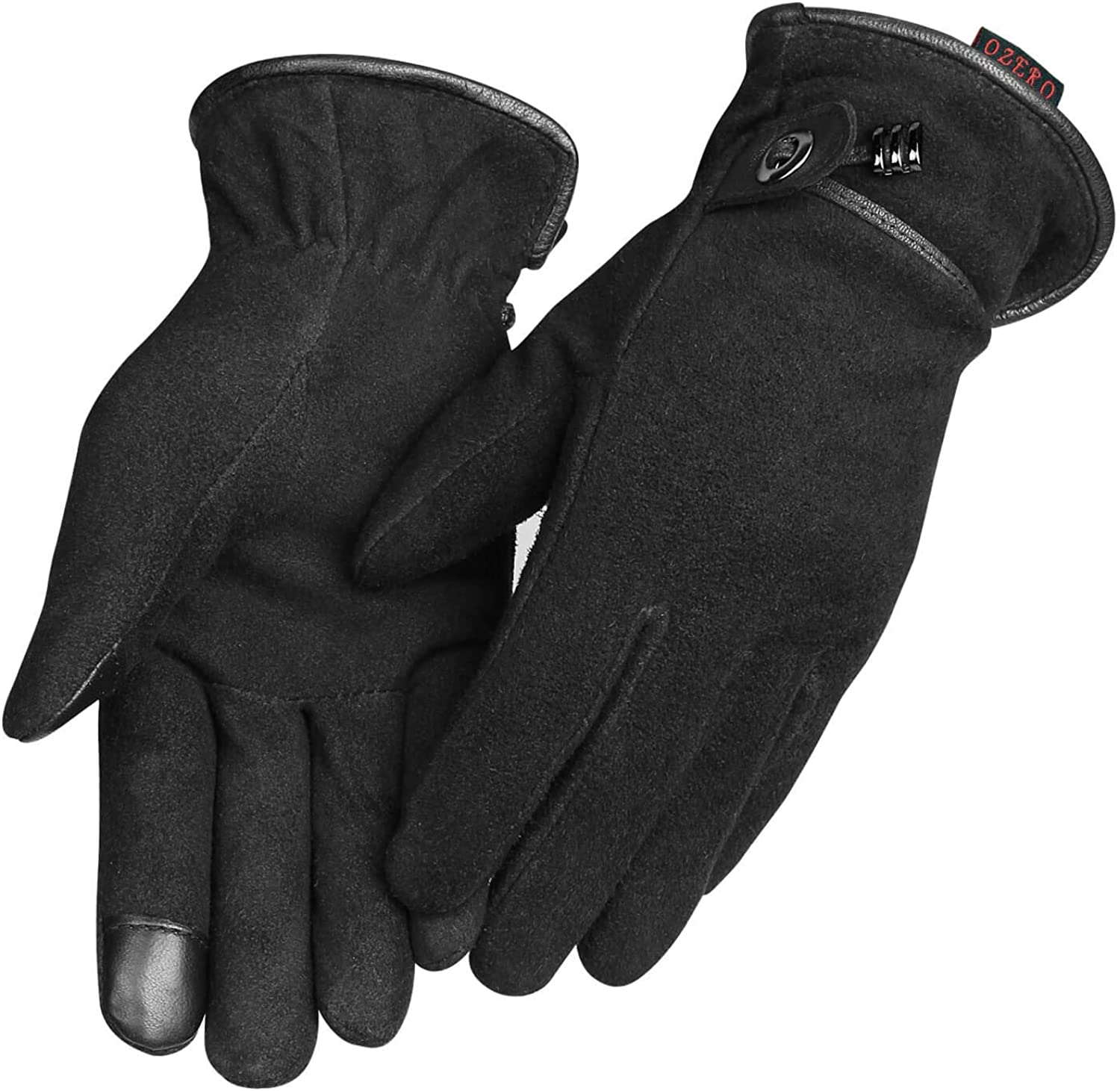 Women Winter Gloves,Womens Touch Screen Thermal Gloves for Running,Cycling,Black