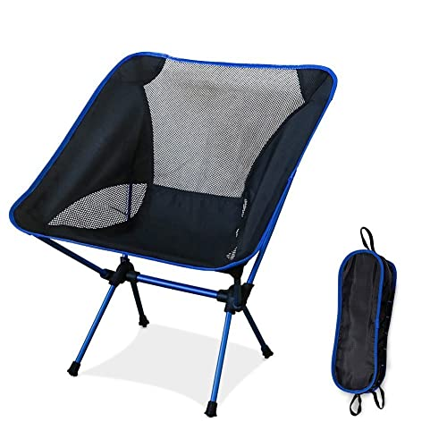 Diswoe Silla de Camping Plegable, Silla de Camping Plegable con bolsa, plegable y portátil