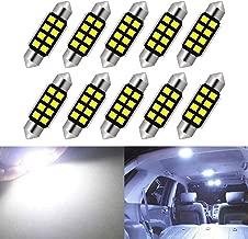 KaTur 10pcs C5W Bulbs 36mm LED Pure White CANbus for Samsung 2835 SMD License Plate Light for BMW E39 E36 E46 E90 E60 E30 E53 E70