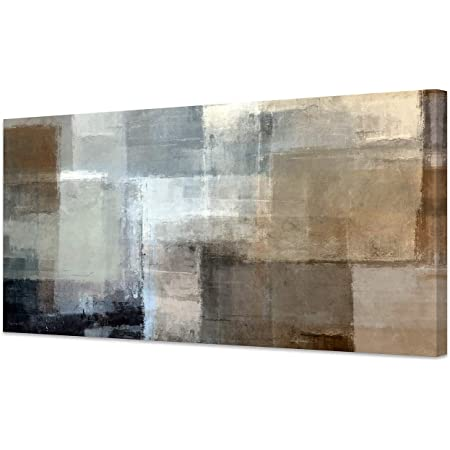White and Gray square canvas large square picture ready to hang home office decor modern artwork on canvas gray print on canvas