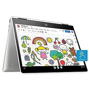 HP Chromebook x360 Intel Celeron N4020 Processor 12-inch (30.48 cms) Touchscreen Laptop (Celeron N4020/4GB/64GB SSD/Chrome OS/Integrated Graphics/Natural Silver), 12b-ca0010TU