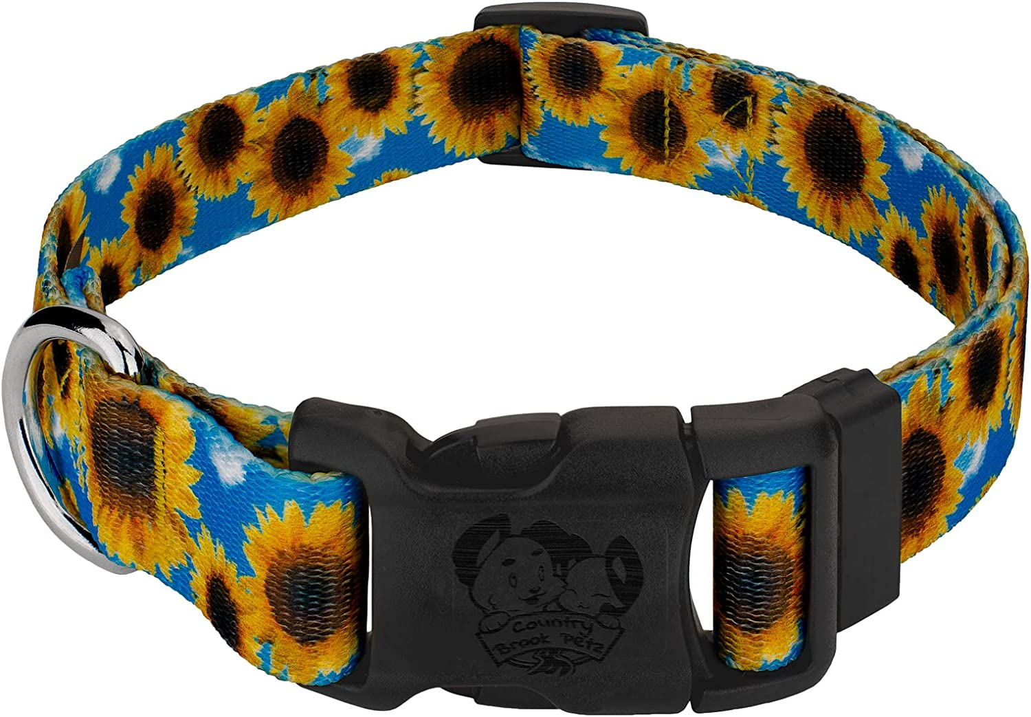 Country Brook Petz Virginia Beach Sale Mall - Deluxe Sunflowers Dog in Made Collar The