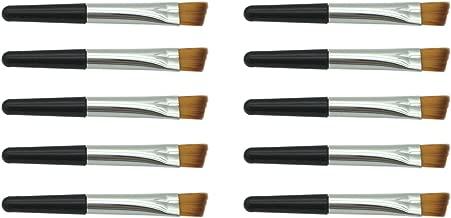 VOSAIDI 10pcs Eyebrow Brush Portable Premium Quality Angled Eye Brow Brush and Spoolie Mini Brush